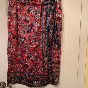LOFT Feux wrap skirt